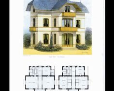 Antique Architectural Print Architecture 1864 di Printvilla4you