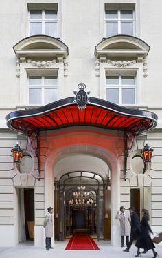 The glamour of the doormen at Raffles Paris Hotel
