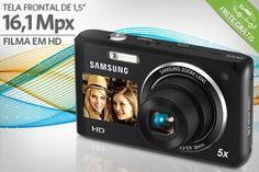 Câmera Samsung com 16,1 Mpx, por apenas R$399.90