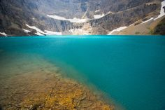 Iceberg Lake, Glacier National Park, Montana (MT), USA--hiked up to this in 1990 early morning on the lookout for grizzly bears. Beautiful beyond words.