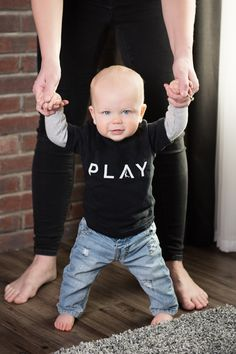 Play Baby & Toddler T-Shirt by Design Minimalism. Shop all sizes at www.designminimalism.com