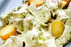 Klassisk potetsalat, som gjerne kan lages dagen før, da smaker den aller best. Summer Recipes, My Recipes, Potato Salad, Tapas, Dip, Grilling, Food Porn, Food And Drink, Keto