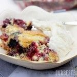 Triple Berry Cobbler - foodandsome