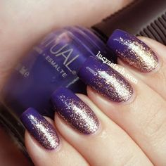 Pretty Nails with Gold Details...