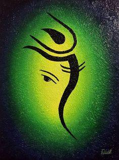 Lord Ganesha Paintings, Ganesha Art, Krishna Painting, Ganesha Drawing, Ganpati Drawing, Simple Rangoli Designs Images, Colorful Rangoli Designs, Abstract Canvas Art, Diy Canvas Art