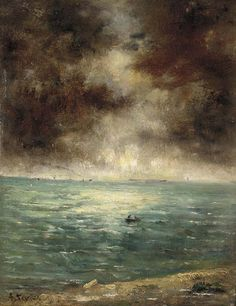 Fishing off the coast of Le Havre, Alfred Stevens. Belgian (1823 - 1906)