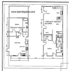Stock Barndominium floor Plans   Barn Floor Plans   Ready-to-Build Barns Metal Homes Floor Plans, Metal Building House Plans, Unique Floor Plans, Pole Barn House Plans, Pole Barn Homes, Barn Plans, House Floor Plans, Pole Barns, Custom Home Plans