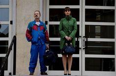 #PaolaCortellesi e #RoccoPapaleo sul set di Un #BossInSalotto, la nuova #WarnerComedy di #LucaMiniero da Gennaio 2014 al cinema! #CinemaItaliano