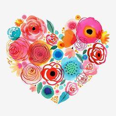 """Muchos creen conocerme porque me leen. Solo me conocen los que me sienten.     Ilustración """"Florals spring"""" by © Margaret Berg"""