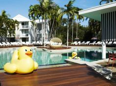 One of the hotels at Port Douglas