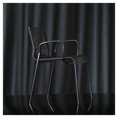Plot, fauteuil outdoor fil PVC tressé Metalmobil Pvc, Bar Stools, Chair, Design, Furniture, Black, Home Decor, Sons, Braid
