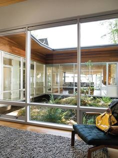 Image result for small atrium in middle of house