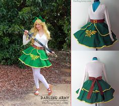 Link - Legend of Zelda - Cosplay Lolita Skirt by DarlingArmy.deviantart.com on @deviantART
