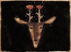 花ジカ flower deer | Tetsuhiro Wakabayashi
