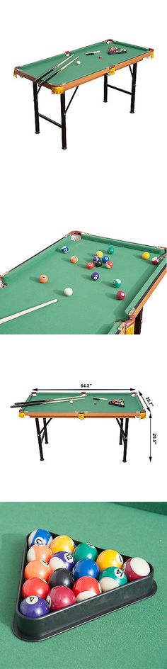 Tables 21213: 4.5Ft Mini Pool Table Portable Tabletop Billiards Board Games Set Play W/Balls BUY IT NOW ONLY: $113.84
