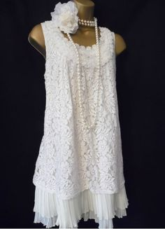 2 layer lace dress 1920s
