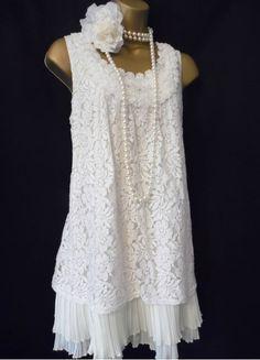 2 layer lace dress 1920s