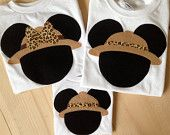For Animal Kingdom Day - Disney Clothes for the Family Minnie or Mickey Mouse Safari Shirts Set of 3 - Animal Kingdom - Disney -  Shirts 6 month - Adult 3X