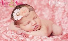 Baby Headband. Vintage Inspired Antique Coral by HartsandRoses, $8.95