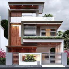 House Arch Design, 3 Storey House Design, House Outside Design, Home Building Design, Bungalow House Design, Modern Small House Design, Modern Exterior House Designs, Modern Bungalow Exterior, Architecture Pdf
