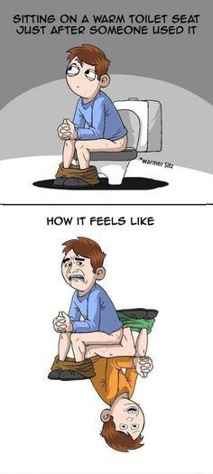 Warm toilet seats