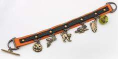 Boo Bracelet - featuring Tierra Cast Leather and findings, and a glass bead from Rings & Things