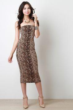 4f9a378fc62 Wild Spots Tube Midi Dress - Pulse Designer Fashion Couture Collection