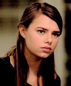 Indiana Evans as Natalie Garner in Secrets and Lies.