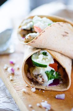 Souvlaki Chicken Wra
