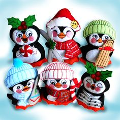 Penguins Sew-in-the-Hoop Treat Bags and Wreath
