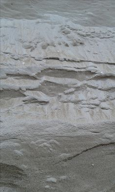 Sand on the cliff