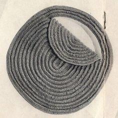 Crocheted Rolled Toque Hat Round Bag Pattern, Vintage Edwardian - patterns