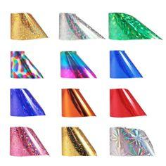 Winstonia Nail Art Metallic Transfer Foil Shiny Dazzling Galaxy Mani Decal Wrap