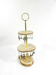 Présentoir à bijoux, présentoir à boucles d'oreilles, pouvant accueillir 47 paires de boucles d'oreilles, fait main en bois : Presentoir, boîtes par melissa-art-et-creation-deco