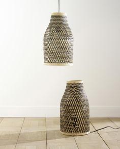 Des luminaires en bambou au style authentique qui apporteront un touche de naturel à votre intérieur. Lampes COLOURS Pianosa - #bambou #tressage #nature