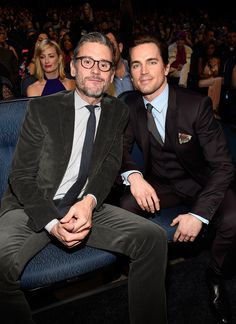 Matt Bomer and his husband, Simon Halls, looked cute in the audience.