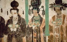 "art-pickings: "" The Mogao Caves (aka Mogao Grottoes, Caves of the Thousand Buddhas, or Caves of Dunhuang, from the 4th to the 14th centuries). """