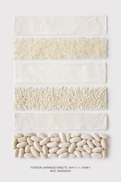 Minimal cookbook presents Japanese sweet ingredients as colour swatches /