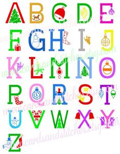 Christmas Monograms - Digital Cutting File - Instant Download - Graphic Design - Digital Cutting Machines - SVG, DXF, JPG