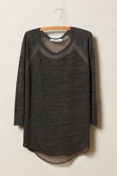 Back in stock in gray. Veronica Space-Dyed Pullover by John + Jenn #anthroregistry
