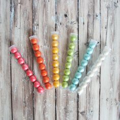 "8 Shimmer Gumballs in 8"" Clear Candy Tube  $2.50"