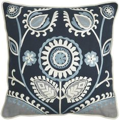 Sunzani Embroidered Pillow