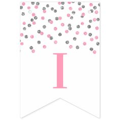 Shop Just Married Banner Pink Silver Confetti created by DreamingMindCards. Flag Design, Print Design, Just Married Banner, Congratulations Banner, Create Your Own, Create Yourself, Egg Card, Short Messages, Sign Lighting