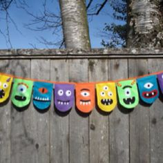 Felt monster banner for monster themed room?