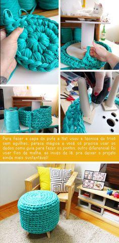 - Pufe De Bobina + rack bloco tijolo