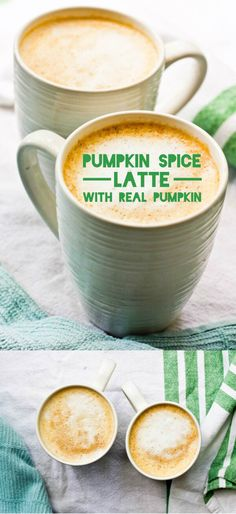 Pumpkin Spice Latte with REAL Pumpkin. Ready in 15 minutes, or Prep the pumpkin puree the night before, and it's ready in 5 minutes! (Paleo Pumpkin Latte)