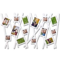 14 Opening Photo Picture Frame - 12AD012-W - Bush Style, White, Wooden - Wall collage, Wall Art, Holds Six 3x3 Inch, Six 3.5x5 Inch, Two 4x6 Inch Photos - ADECO by ADECO, http://www.amazon.ca/dp/B009QQJ6EU/ref=cm_sw_r_pi_dp_nlDdrb0X27BK4