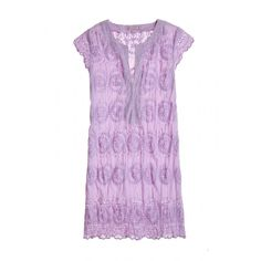 Purple eyelet dress