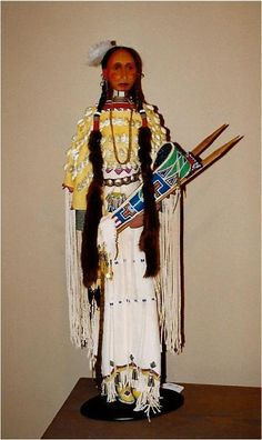Kiowa style doll/ figure 1996 Created by: Rhonda Holy Bear Lakota Doll / Figure Artist