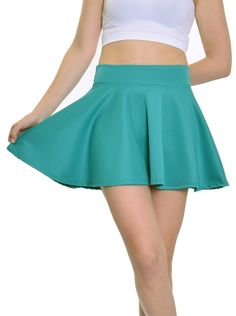 "Jade Skater Skirt (~15.5"" Length)"